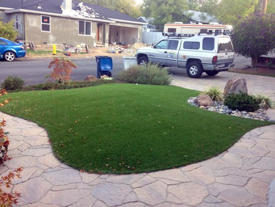 Artificial Grass Crownpoint, New Mexico Landscape Design, Front Yard artificial grass