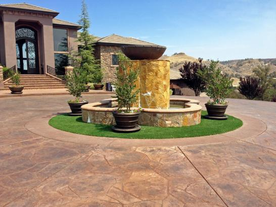 Artificial Grass Photos: Installing Artificial Grass Milan, New Mexico Landscaping Business, Front Yard Design