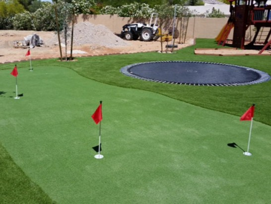 Synthetic Grass La Villita, New Mexico Putting Green Grass, Backyard Design artificial grass